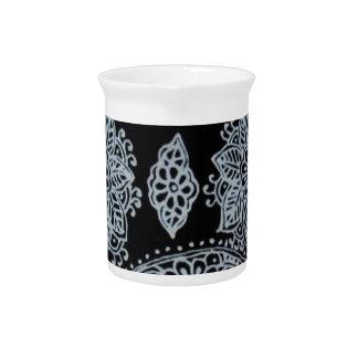 Alheña de plata de Mehndi Jarras Para Bebida
