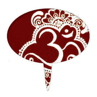 Alheña del rojo del mehndi de la India Decoración Para Tarta