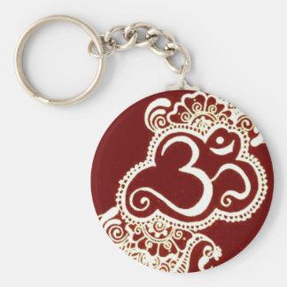 Alheña del rojo del mehndi de la India Llavero Redondo Tipo Pin