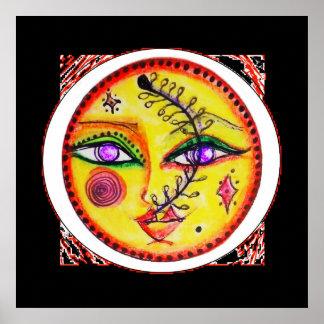 Alheña del zen, poster, cara roja negra Kimba del Póster