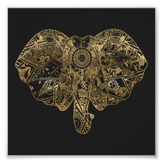 Alheña dibujada mano linda del elefante floral cojinete