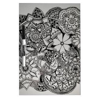 Alheña floral del manojo pizarra