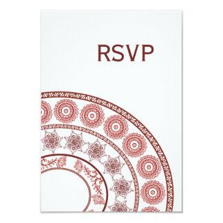 Alheña india blanca Mehendi que casa la tarjeta de Invitación Personalizada
