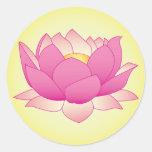 Alheña Lotus Pegatina Redonda