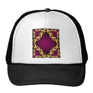 alheña violeta de oro gorros bordados