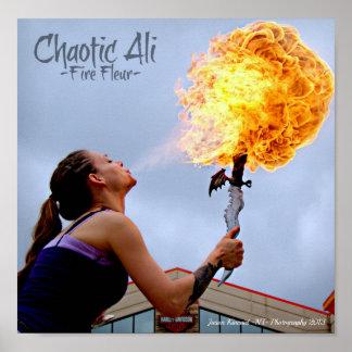 """Ali A ..... """"la bola de fuego de Fleur del fuego""""  Posters"""