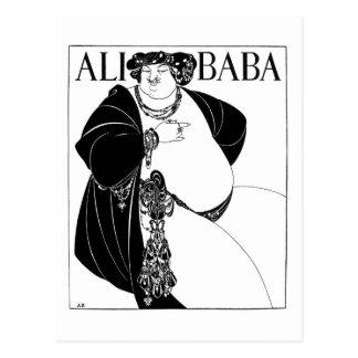 Ali Baba, Aubrey Beardsley Postcard