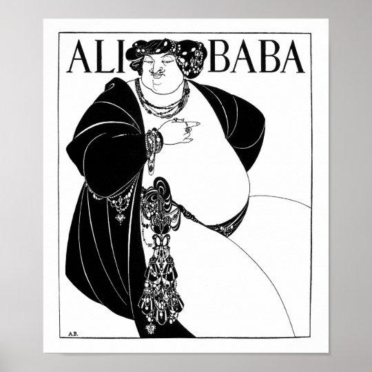 Ali Baba, Aubrey Beardsley Poster