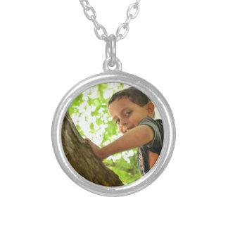 Ali Images Round Pendant Necklace