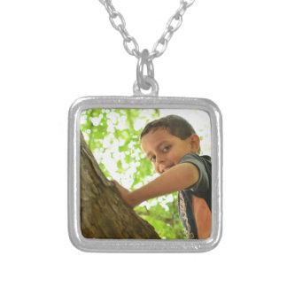 Ali Images Square Pendant Necklace