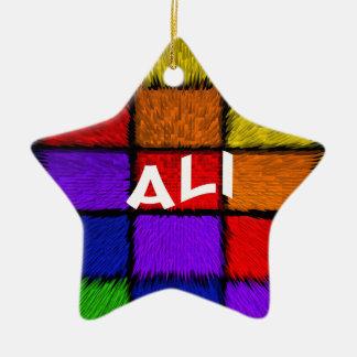 ALI (male names ) Ceramic Ornament