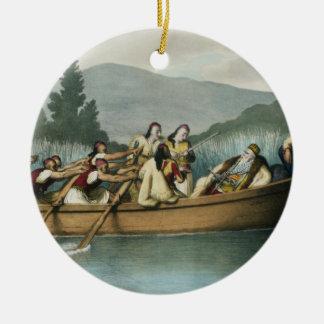 Ali Pasha (1741-1822) of Janina hunting on Lake Bu Ceramic Ornament