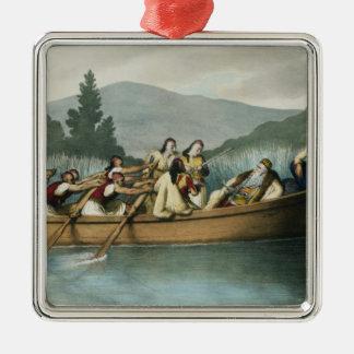 Ali Pasha (1741-1822) of Janina hunting on Lake Bu Metal Ornament