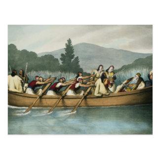 Ali Pasha (1741-1822) of Janina hunting on Lake Bu Postcard