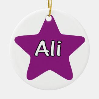 Ali Star Ceramic Ornament