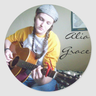 Alia Grace Classic Round Sticker