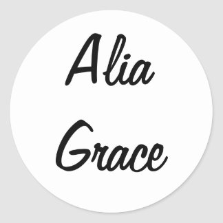 Alia Grace Stickers