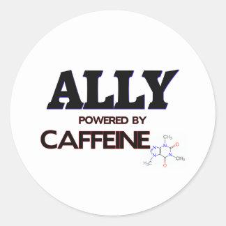 Aliado accionado por el cafeína pegatina redonda