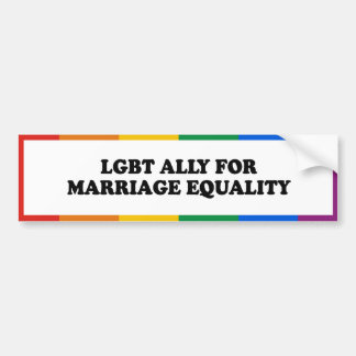 ALIADO DE LGBT PARA LA IGUALDAD DE LA BODA - .PNG ETIQUETA DE PARACHOQUE