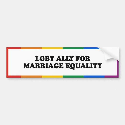 ALIADO DE LGBT PARA LA IGUALDAD DE LA BODA - .PNG PEGATINA PARA AUTO