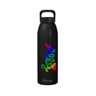 ALIADO de los derechos de los homosexuales Botella De Agua Reutilizable