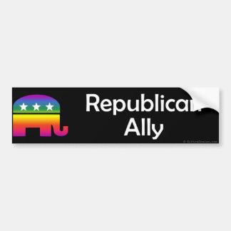 Aliado del republicano de GLBT Pegatina Para Auto