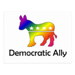 Aliado Democratic de GLBT (2) Postal