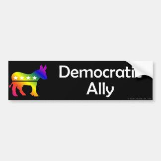 Aliado Democratic de GLBT Pegatina Para Auto