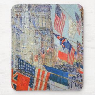 Aliados día, mayo de 1917 por Childe Hassam, arte Tapete De Ratones