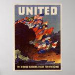 Aliados patrióticos 2 LG de los E.E.U.U. del poste Poster