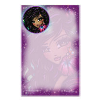 """Aliah"" Hibiscus Fairy Fantasy Art by Hannah Lynn Stationery"