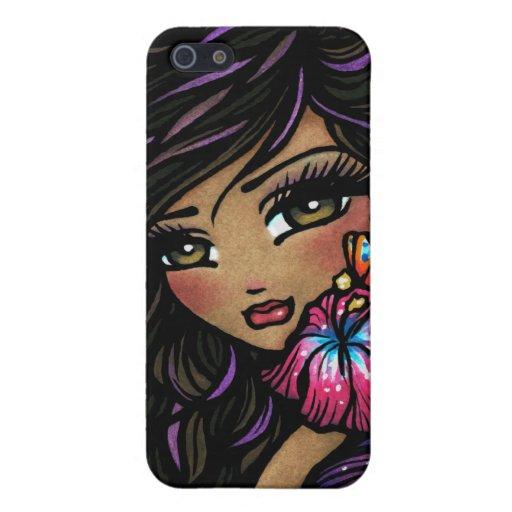 Aliah Hibiscus Fairy Fantasy Art Covers For iPhone 5