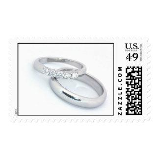 Alianzas de boda de plata sello
