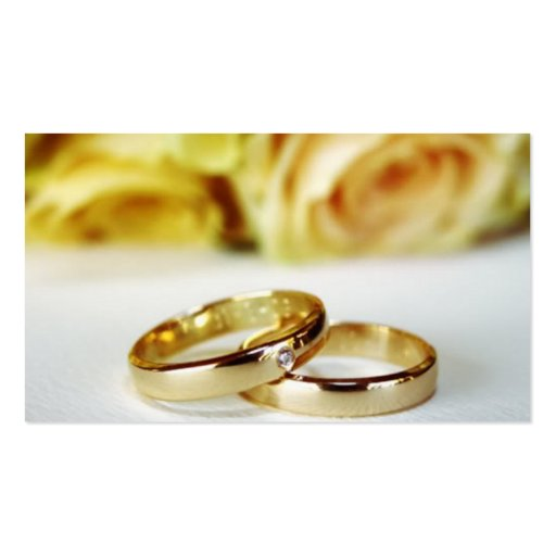 Alianzas de boda del oro tarjeta de visita