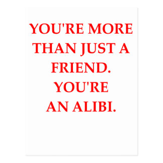 ALIBI POSTCARD
