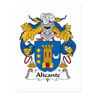Alicante Family Crest Postcard