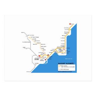 Alicante subway post cards