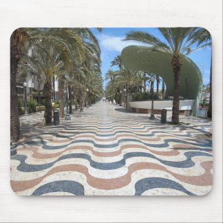 Alicante wavy tiles pavement Mouse Pad