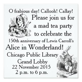 Alice150 Alice in Wonderland 150th Anniversary 5.25x5.25 Square Paper Invitation Card