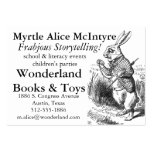 Alice150 Alice in Wonderland 150th Anniversary Large Business Cards (Pack Of 100)