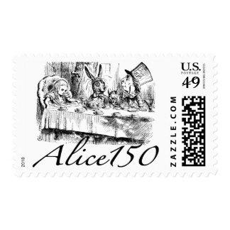 Alice150 Alicia en el 150o aniversario del país de Estampillas