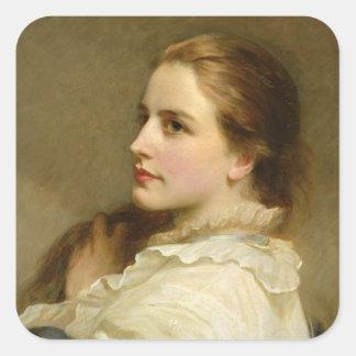 Alice, 1877 square sticker