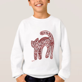 Alice Abstract Red Toile Cat Sweatshirt