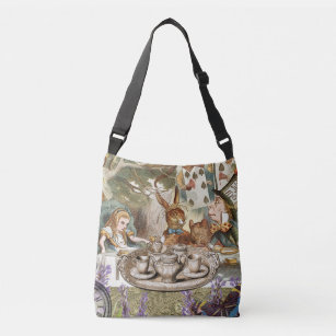 Mad Tea Party Canvas Tote 3 Sizes Available Disney Inspired Whimsical Alice Gift Machine Washable Bags /& Purses