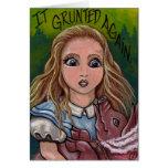 ALICE Alice in Wonderland Note Card