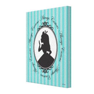 Alice | Always Curious Canvas Print
