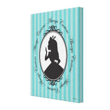 Disney Themed Alice | Always Curious Canvas Print