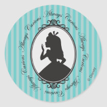Alice | Always Curious Classic Round Sticker