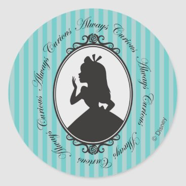 Disney Themed Alice | Always Curious Classic Round Sticker