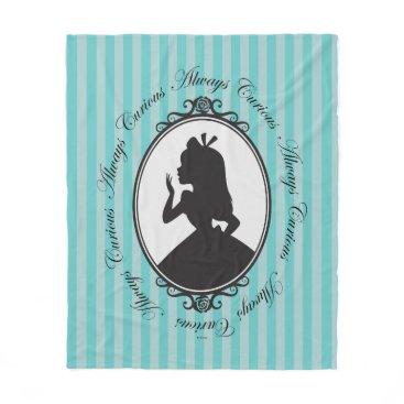 Disney Themed Alice | Always Curious Fleece Blanket